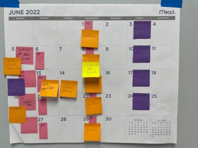 Calendar Planning for 2021 and 2022