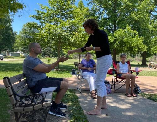 Outdoor Eucharist Resumes Wednesday, July 21